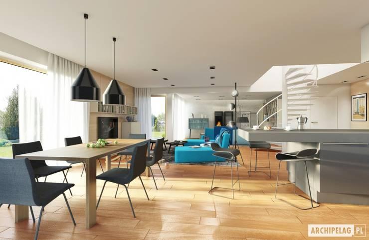 Salas de jantar  por Pracownia Projektowa ARCHIPELAG