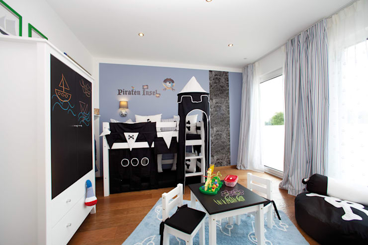 Dormitorios infantiles de estilo moderno por ELK Fertighaus GmbH