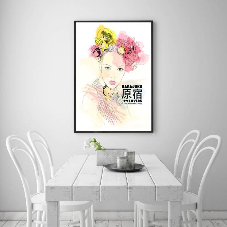 Plakat China Girl: styl , w kategorii Ściany i podłogi zaprojektowany przez 4rooms.com.pl