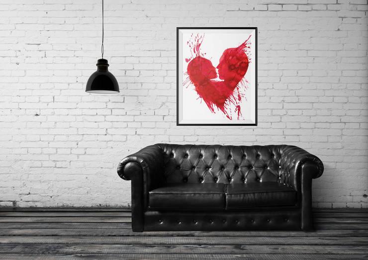 Plakat Kiss: styl , w kategorii Ściany i podłogi zaprojektowany przez 4rooms.com.pl