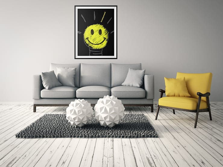 Plakat Kreatywność: styl , w kategorii Ściany i podłogi zaprojektowany przez 4rooms.com.pl