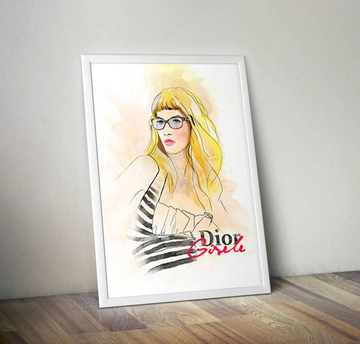 Plakat Dior: styl , w kategorii Ściany i podłogi zaprojektowany przez 4rooms.com.pl