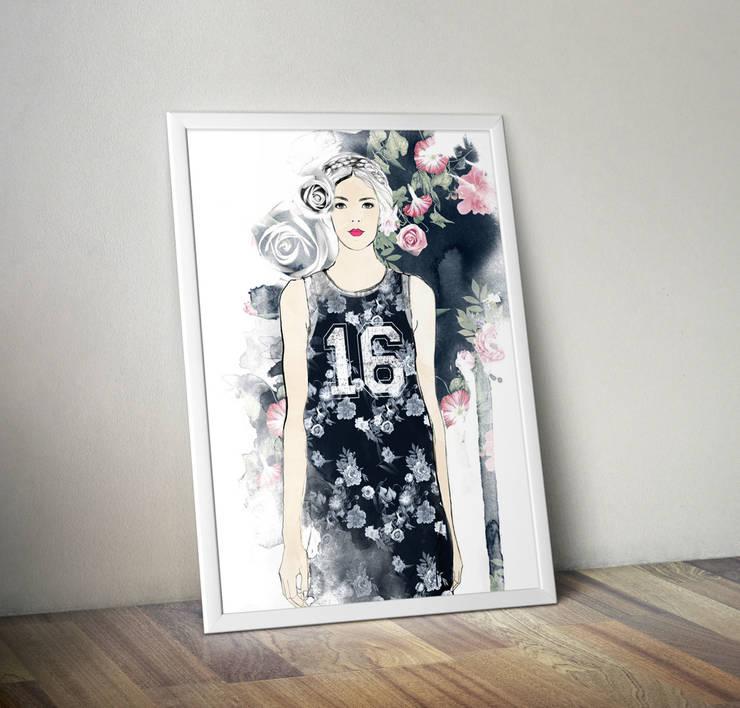 Plakat Fashion: styl , w kategorii Ściany i podłogi zaprojektowany przez 4rooms.com.pl