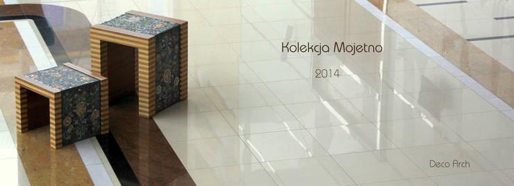 """""""Mojetno"""" - klasyczna kolekcja mebli z nutą folkloru: styl , w kategorii Salon zaprojektowany przez GRANMAR Borowa Góra - granit, marmur, konglomerat kwarcowy"""