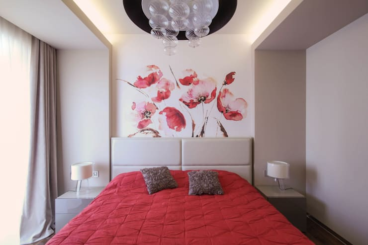 Квартира в ЖК Дубровская Слобода: Спальни в . Автор – ДизайновТочкаРу