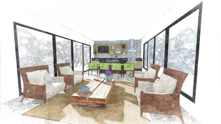 Espaço Gourmet: Cozinhas  por aei arquitetura e interiores