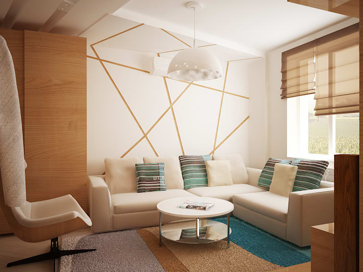 modern Living room by Vera Rybchenko