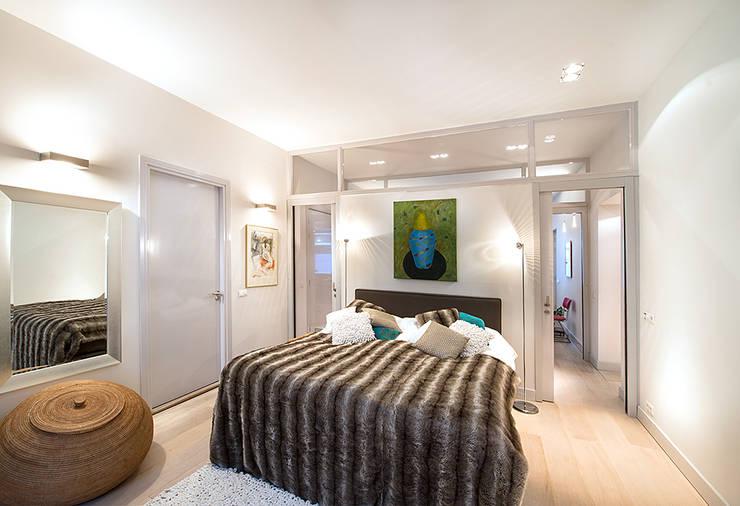 Prins Hendrikstraat:  Slaapkamer door De Werff Architectuur