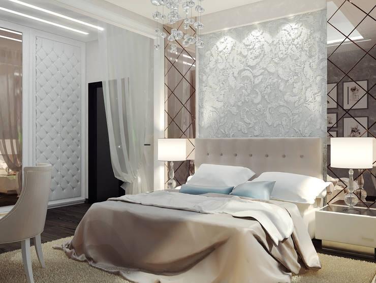 Квартира 75 м2: Спальни в . Автор – Vera Rybchenko, Классический