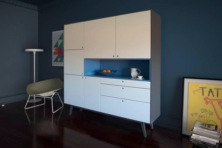 Projekty,  Salon zaprojektowane przez MO-OW design .  ângela frias e gonçalo dias arquitectos lda