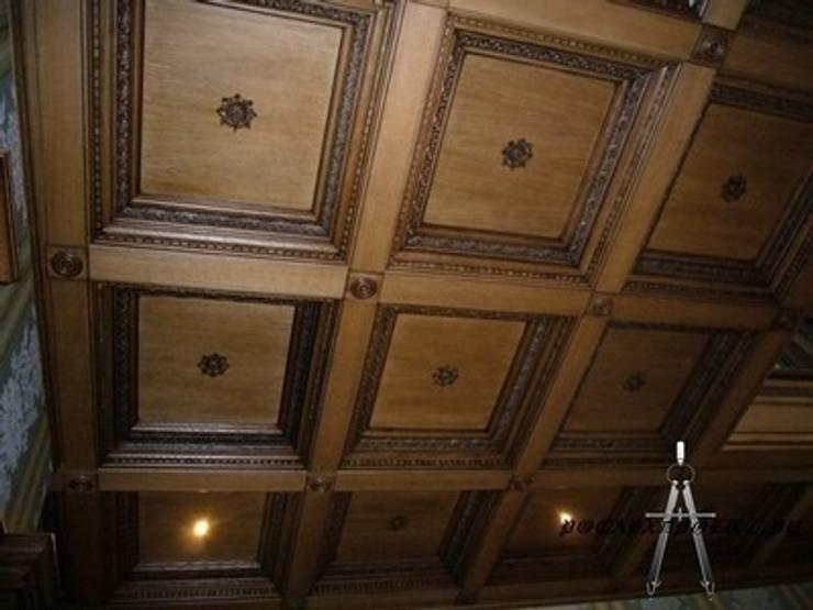 кессонный потолок в гостиной: Гостиная в . Автор – Росархпроект.ру