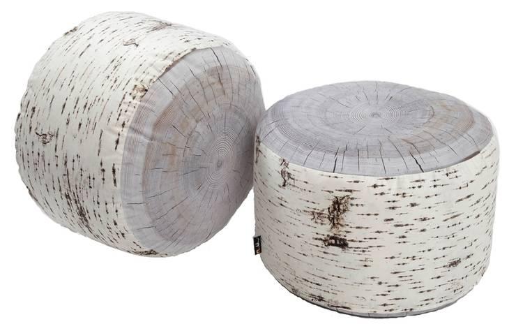 Pufy leśne indoor i outdoor: styl , w kategorii  zaprojektowany przez HEDO design,Skandynawski