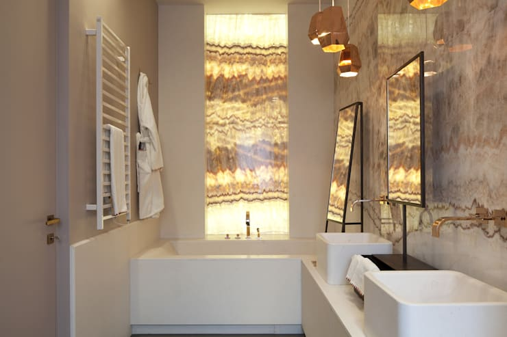 Projekty,  Łazienka zaprojektowane przez Studio Andrea Castrignano