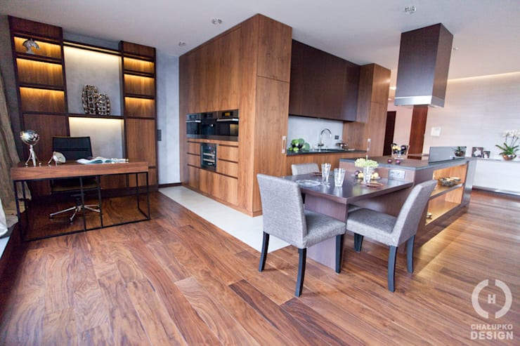 Penthouse Wilanów : styl , w kategorii Salon zaprojektowany przez Chałupko Design