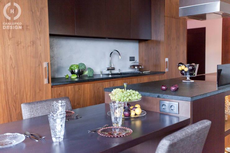 Penthouse Wilanów : styl , w kategorii Kuchnia zaprojektowany przez Chałupko Design