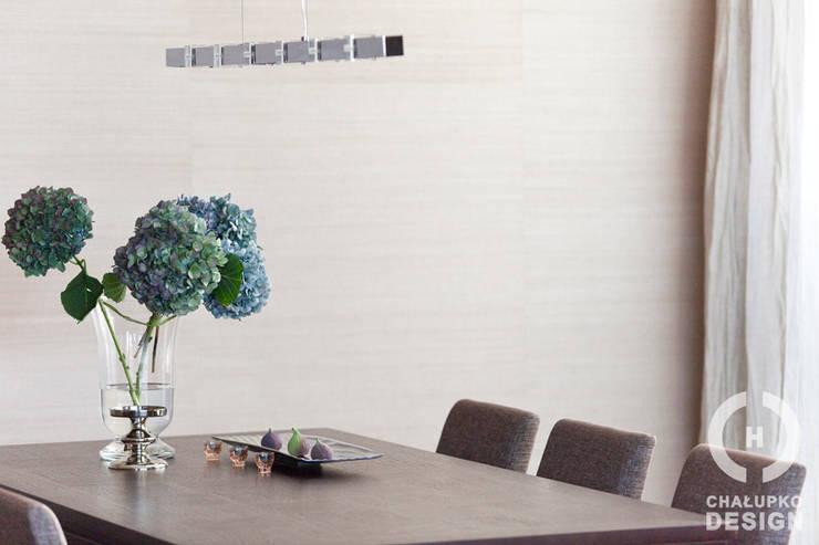 Penthouse Wilanów : styl , w kategorii Jadalnia zaprojektowany przez Chałupko Design
