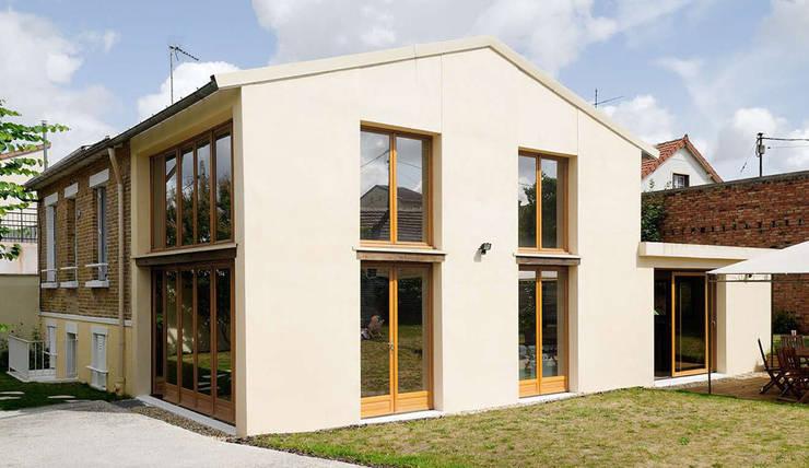 Réfection complète d'une maison à Colombes + extension, 170m² : Maisons de style  par ATELIER FB
