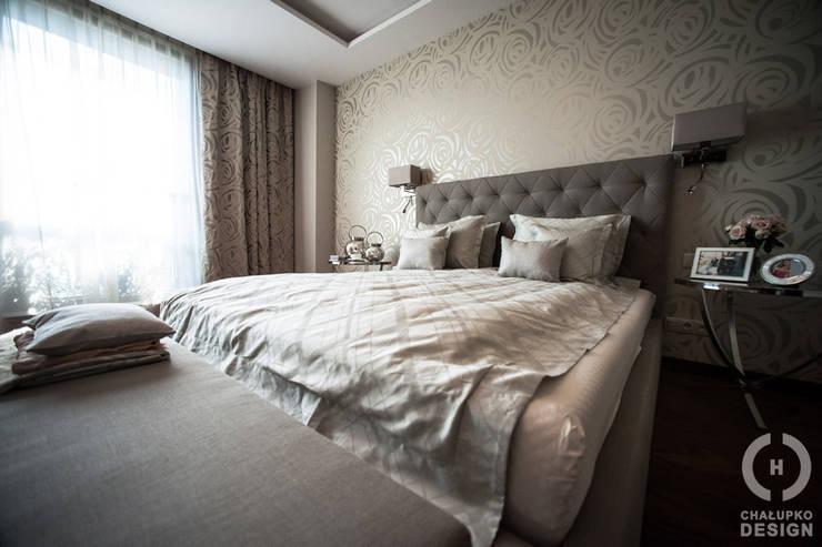 Penthouse Wilanów : styl , w kategorii Sypialnia zaprojektowany przez Chałupko Design