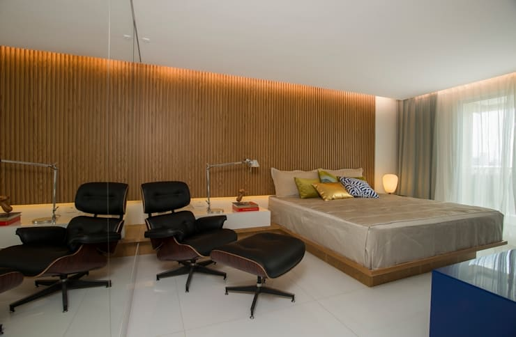 Ed. Único Condominium Classic: Quartos  por Rodrigo Maia Arquitetura + Design