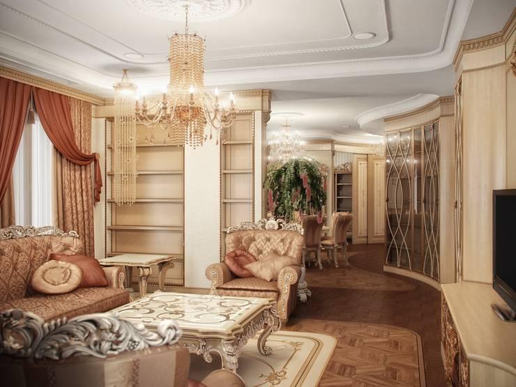 Гранатный переулок дом 6: Гостиная в . Автор – Premier Dekor