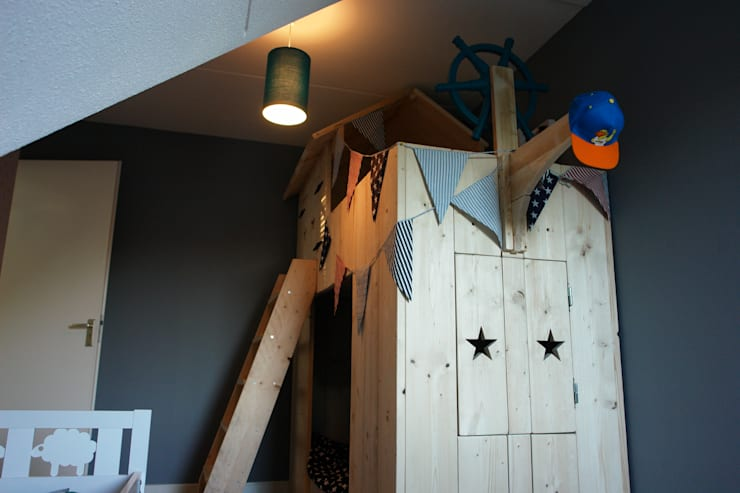 piratenbed:  Kinderkamer door klauterkamer