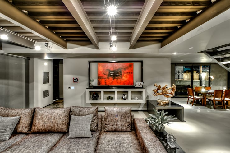 industrial Living room by Con Contenedores S.A. de C.V.