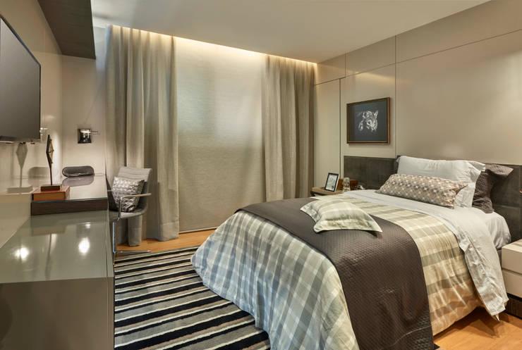 Apartamento LJ: Quartos  por Gláucia Britto,Moderno
