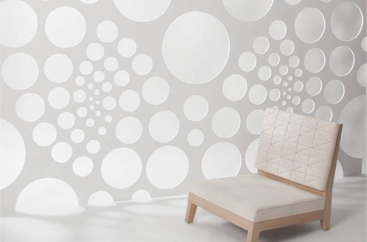 Celosías <q>MATHS IN NATURE</q>: Paredes y pisos de estilo  por AMOATO STUDIO SA DE CV