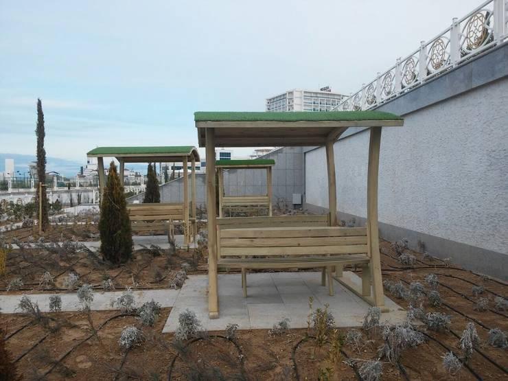 AĞAÇ EV MOBİLYA PEYZAJ LTD. ŞTİ. – Piknik Kameriye:  tarz Bahçe