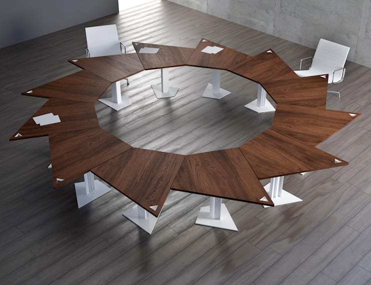 Mesa TRAP formada por 12 unidades: Comedor de estilo  de KAMBIAM (NeuroDesign Furniture for People)