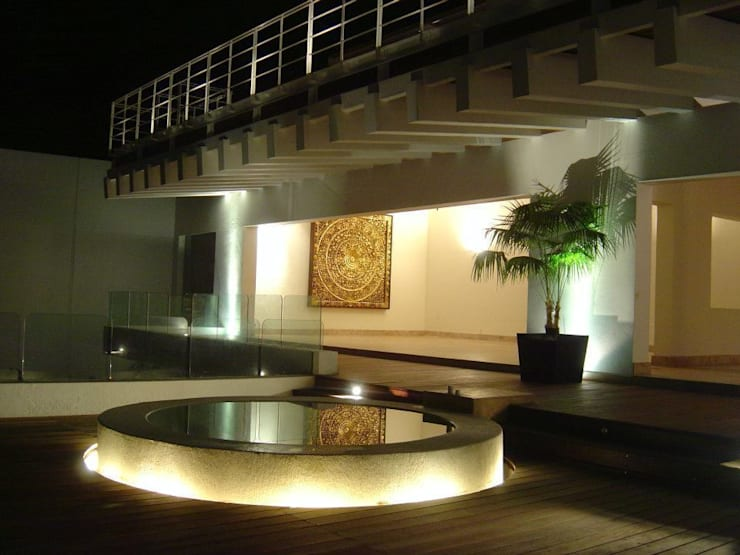 Villa KW - Micheas Arquitectos: Terrazas de estilo  por Micheas Arquitectos