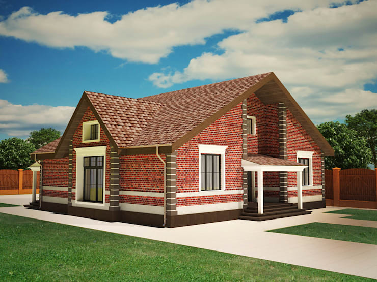 Индивидуальный жилой дом в Краснодарском крае: Дома в . Автор – LGorshkaleva, Классический