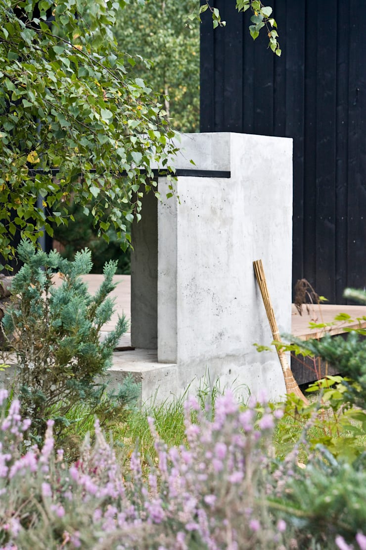Grill w obrębie tarasu: styl , w kategorii Domy zaprojektowany przez Magdalena Zawada