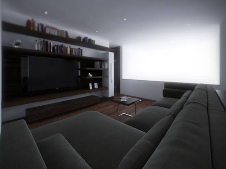 Sala TV: Salas multimedia de estilo  por RTstudio
