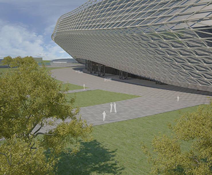 Стадион на 40 000 зрителей в городе Краснодар: Дома в . Автор – LGorshkaleva