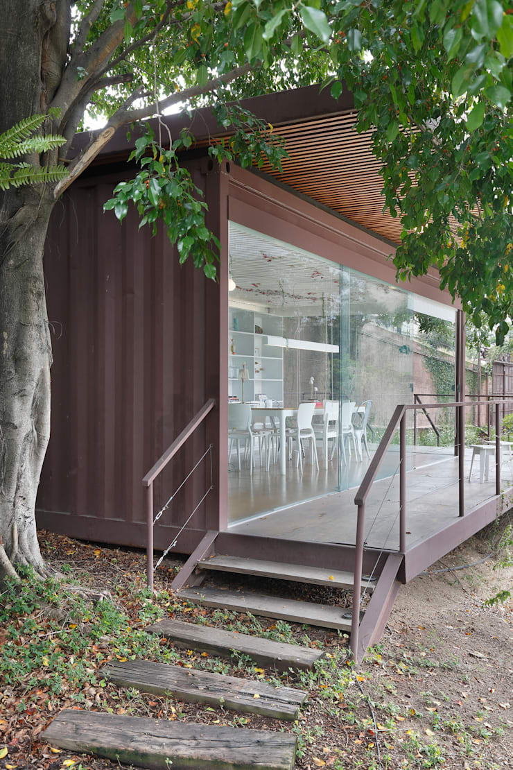 Farm – Sala Natureza: Lojas e imóveis comerciais  por Cerejeira Agência de Arquitetura