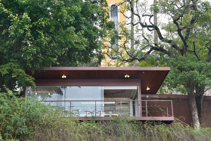 Farm - Sala Natureza: Lojas e imóveis comerciais  por Cerejeira Agência de Arquitetura
