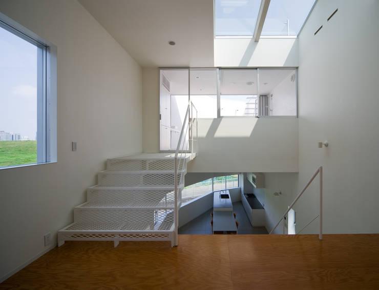 ロフトリビング: 一級建築士事務所シンクスタジオが手掛けた廊下 & 玄関です。