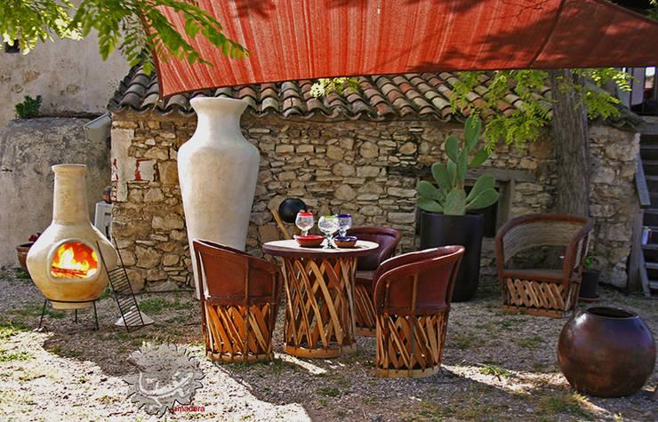 Brasero mexicain barbecue: Jardin de style  par amadera
