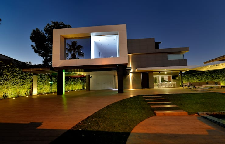 Vista exterior 3: Casas de estilo  de Duart-Vila Arquitectes S.L.P.