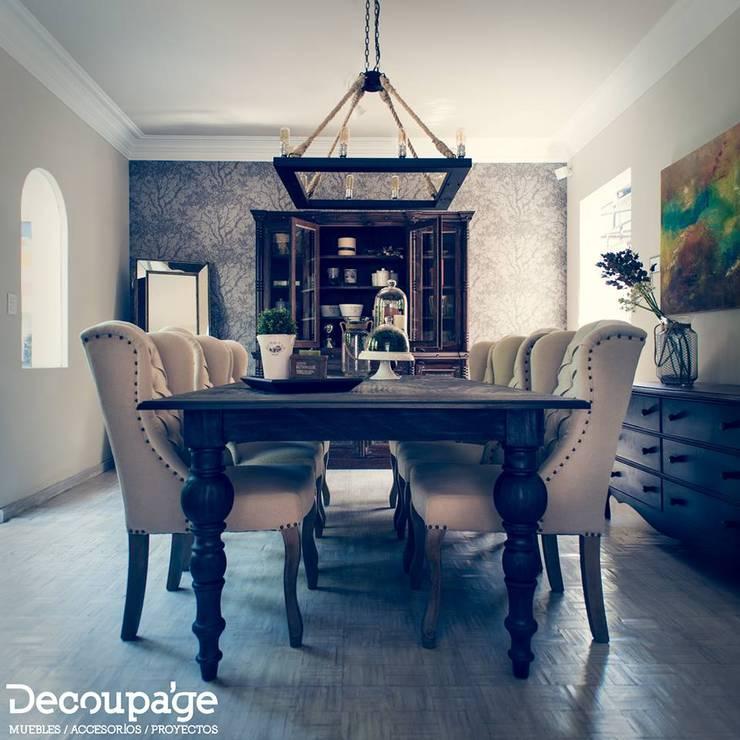 Te queremos ayudar a diseñar tu casa con ideas creativas, frescas y adaptadas a tu personalidad y estilo...: Hogar de estilo  por Decoupage
