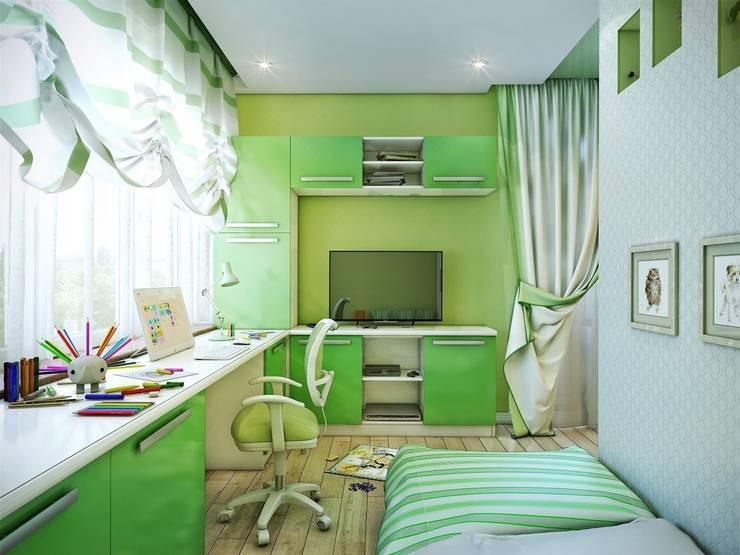 Квартира Краснопутиловская.: Детские комнаты в . Автор – Студия дизайна Elena-art