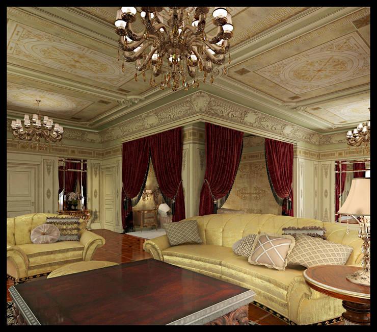 Мужская спальня: Спальни в . Автор – Defacto studio, Классический