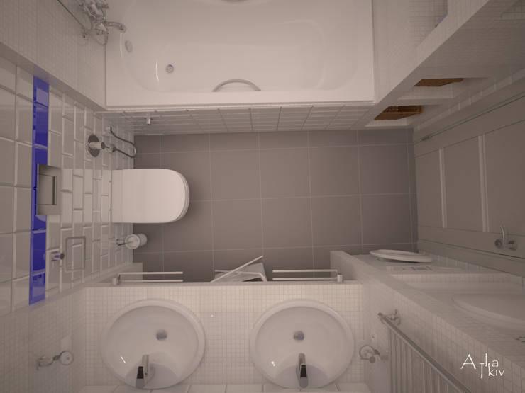 ZELENOGRAD: Ванные комнаты в . Автор – Alfia Ilkiv Interior Designer