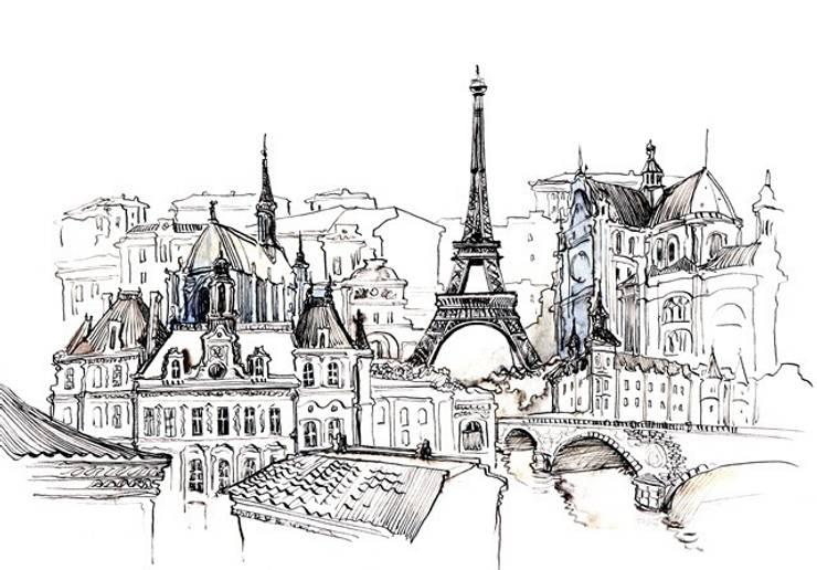 Obraz na płótnie Paryż: styl , w kategorii Ściany i podłogi zaprojektowany przez 4rooms.com.pl