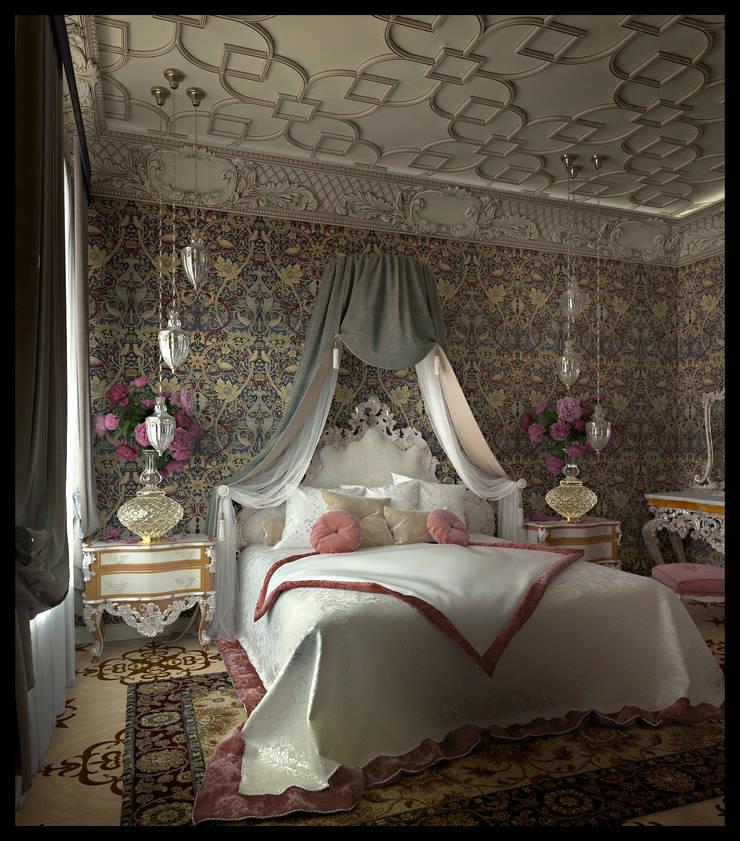 Женская спальня: Спальни в . Автор – Defacto studio, Эклектичный