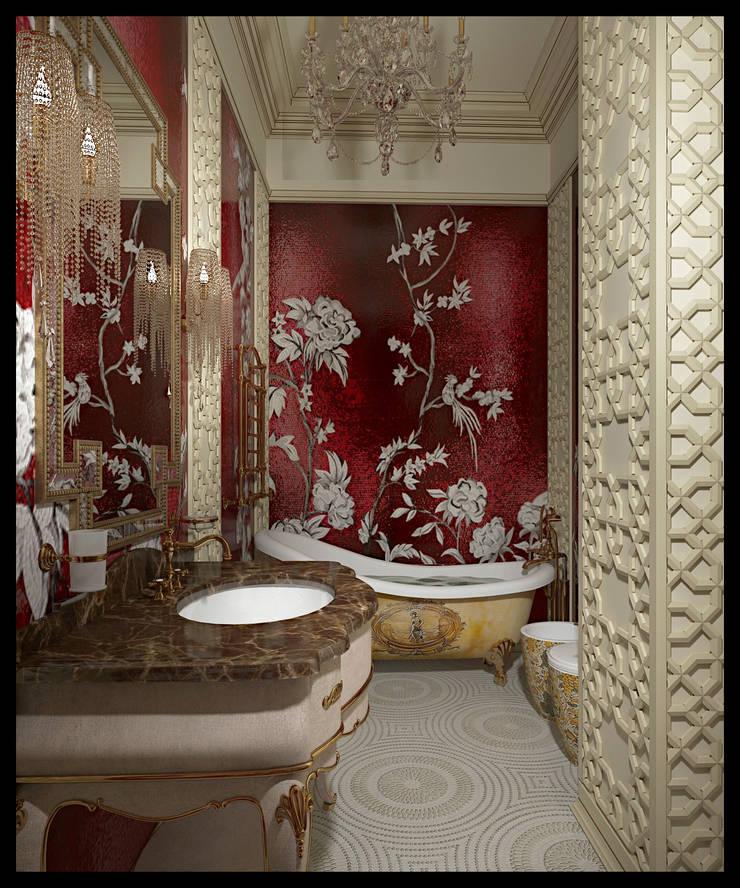 Санузел при женской спальне. Вид 1: Ванные комнаты в . Автор – Defacto studio, Эклектичный