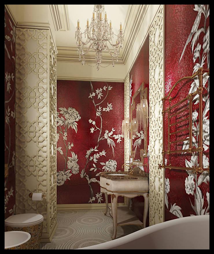 Санузел при женской спальне. Вид 2: Ванные комнаты в . Автор – Defacto studio, Эклектичный