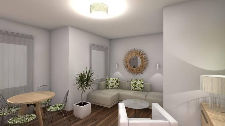 Reforma piso de 43m² útiles. : Salones de estilo  de beatriz gala reformas e interiorismo