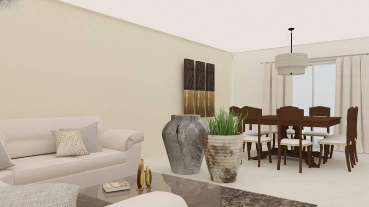 Proyecto Vergel : Salas de estilo  por Beatriz Quiroz Interiorismo